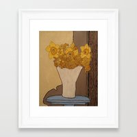 helen Framed Art Prints featuring Helen by Danielle Bryant