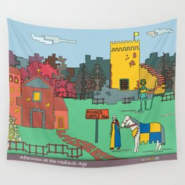 Afternoon at the Medieval Age Wall Tapestry