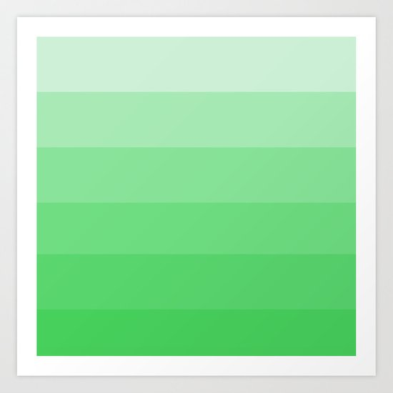 Green Ombre Art Print