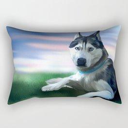 I Love Husky (Gohan the Husky) Rectangular Pillow