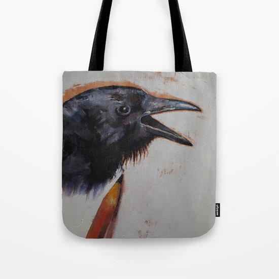 Raven Sketch Tote Bag