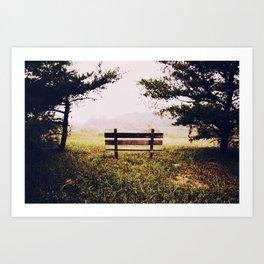 Thinking Bench... Art Print