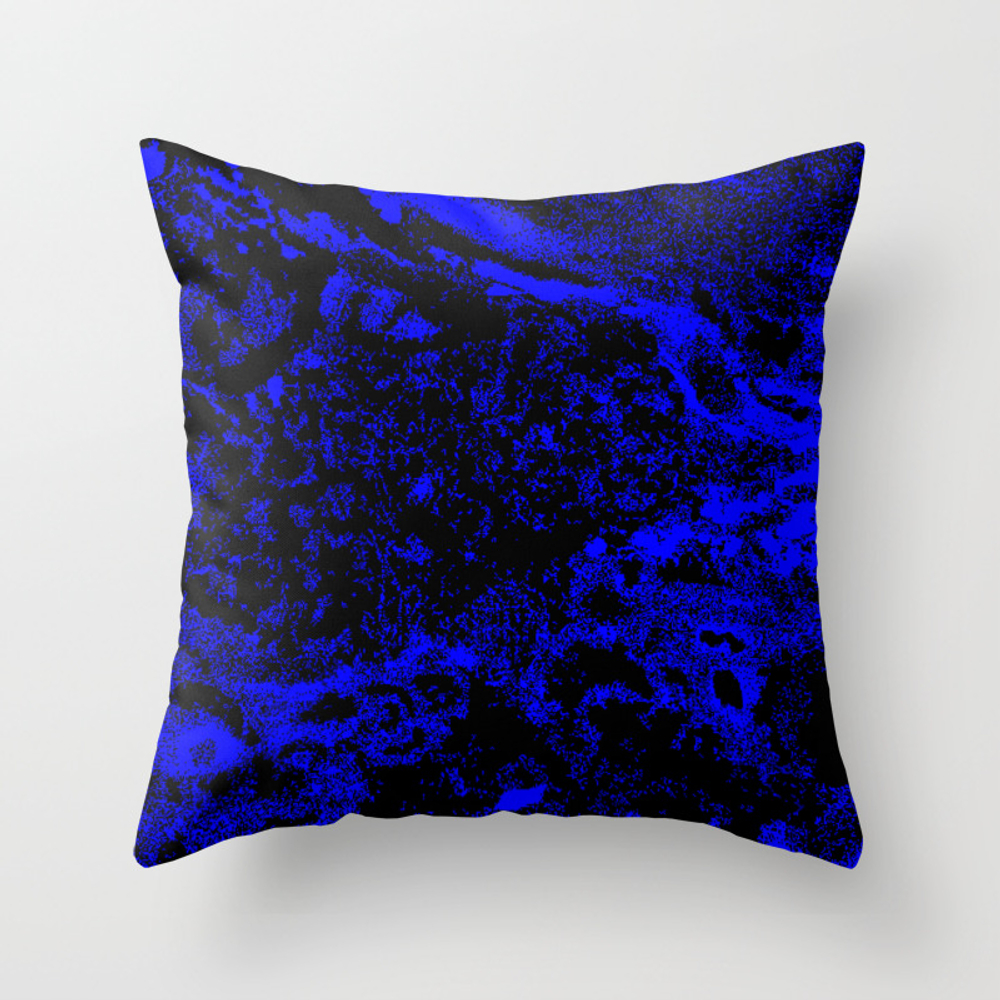 Blu Throw Pillow by Ebecca_ray PLW9231777