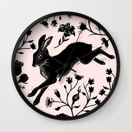 Hare & Vines Wall Clock