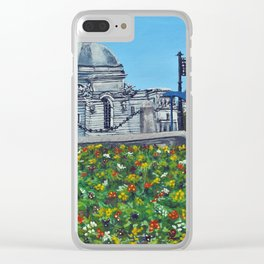 Spring at City Hall, Cardiff Clear iPhone Case