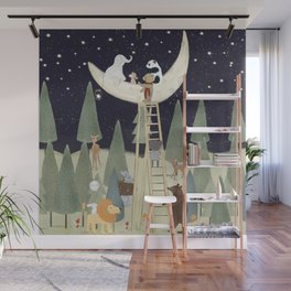 the moon forest Wall Mural