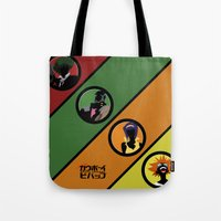 cowboy bebop Tote Bags featuring Bebop Team by AngoldArts