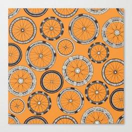 bike wheels amber Canvas Print