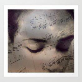 Music girl Art Print