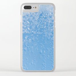 Melting frost and water condensation Clear iPhone Case