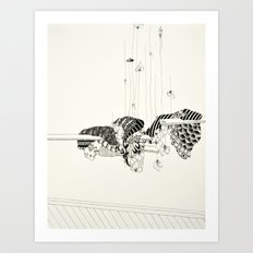 Pull out every hair one by one from each finger Art Print