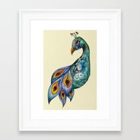 peacock Framed Art Prints featuring Peacock by SilviaGancheva