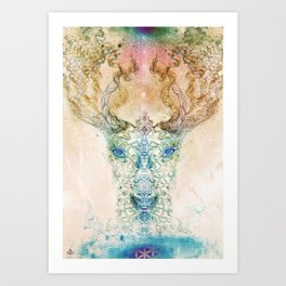 Medicina Cosmic Shoko - Light DeerTree Art Print
