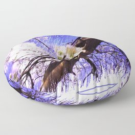 The Lovely Flowering Pear Tree Floor Pillow