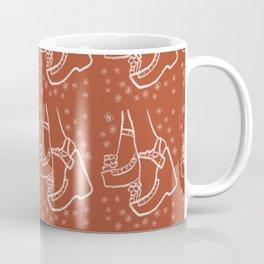 Seventies Fashion Sandals in Orange Coffee Mug