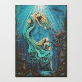 The Mermaid's Gift Canvas Print