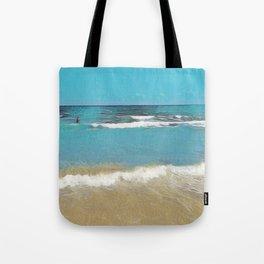 Palm Beach Waves Tote Bag