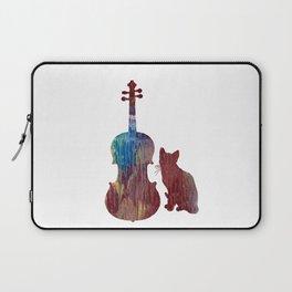 Viola Cat Art Laptop Sleeve