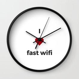 I LOVE FAST WIFI Wall Clock