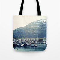 marina and the diamonds Tote Bags featuring Marina by Megan