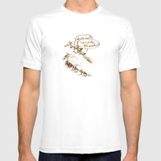 Pigeons and a scooter White Mens Fitted Tee MEDIUM