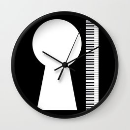 Piano Keyhole Musical Copy Space Wall Clock