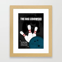The Big Lebowski - Minimal Movie Poster. A Film by Joel Coen and Ethan Coen. Framed Art Print