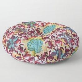 Crabs & Shells print Floor Pillow