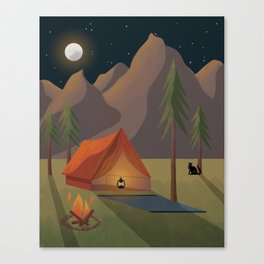 Cat Camp Canvas Print