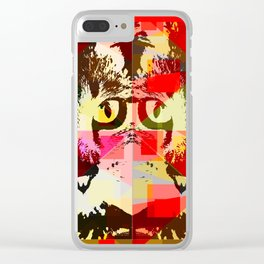 experimental cats Clear iPhone Case