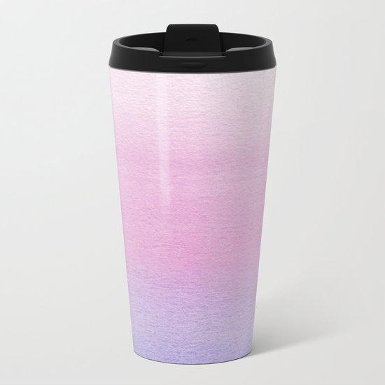 Watercolor Gradient Metal Travel Mug