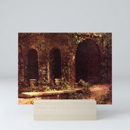 Carl Blechen - Grotto in The Park of The Villa d'Este near Rome - German Romanticism - Oil Painting Mini Art Print