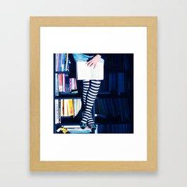 Searching for stories Framed Art Print