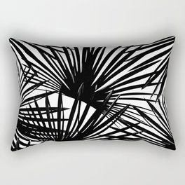 Tropical Fan Palm Leaves #2 #tropical #decor #art #society6 Rectangular Pillow