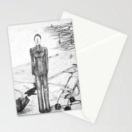 Paseo bajo la lluvia Stationery Cards