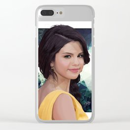 Sel Gomez Clear iPhone Case