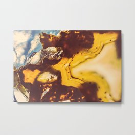 Amber Honey Agate Metal Print