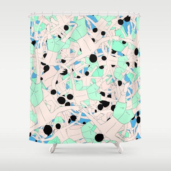 FALL ASLEEP Shower Curtain By RUEI
