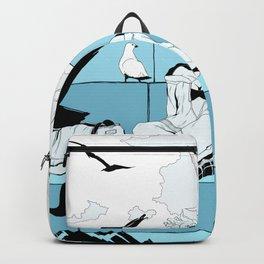 Seagulls on LakeShore Drive Backpack