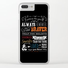 Promise me this Clear iPhone Case
