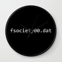 fsociety dat file Wall Clock