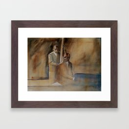 Musician Series I: Jazz Bass Walk Keyboard Run Framed Art Print