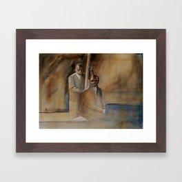 Musician Series I: Jazz Bass Walk Keyboard Run Framed Art Print
