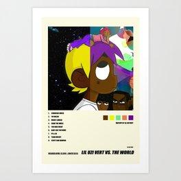Lil Uzi Vert vs the World Poster, Album Cover Poster, Canvas Print, Home Decor Art Print