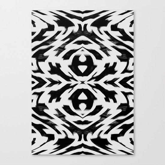 Arrow Tribe Black & White Canvas Print