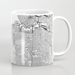 Vancouver White Map Coffee Mug