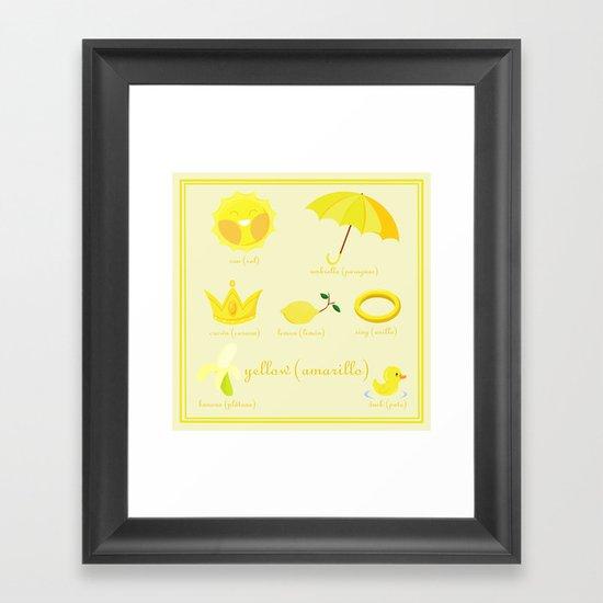 Colors: yellow (Los colores: amarillo) Framed Art Print