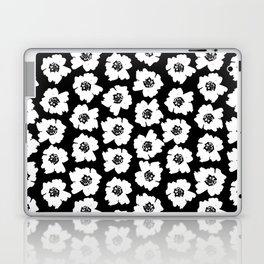 Linocut botanical nature floral flower art nursery black and white decor newborn Laptop & iPad Skin
