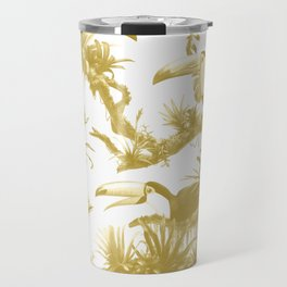 Toucans and Bromeliads - Spicy Mustard Travel Mug