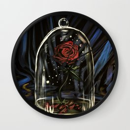 Enchanted Rose Wall Clock